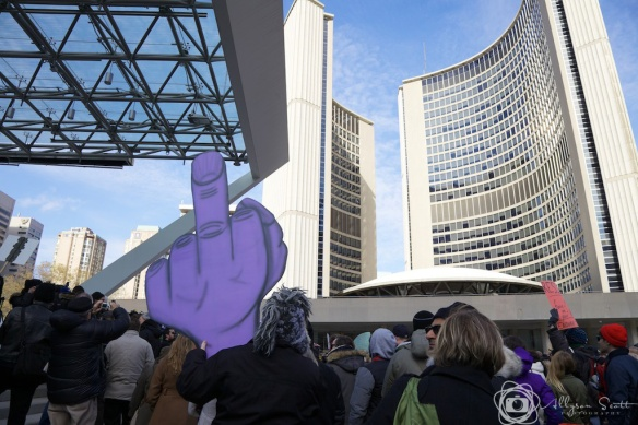 Rally at Toronto City Hall to oust Mayor Rob Ford
